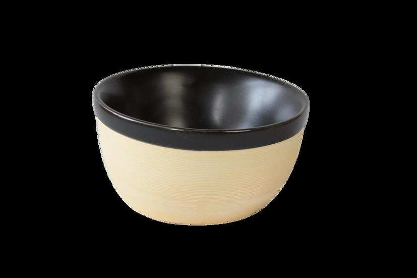Large bowl, double wall porcelain,  19.5cm, 615ml