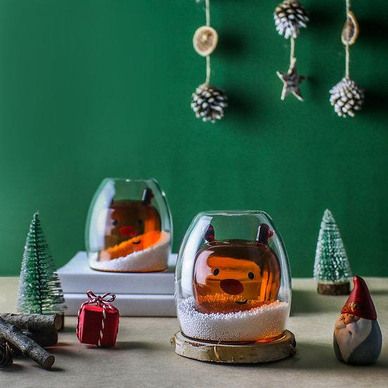 聖誕系列-麋鹿雙層杯