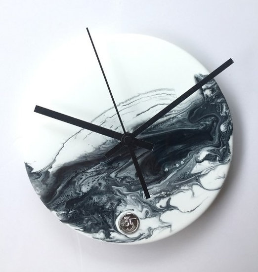 Chinese Paint・Planet・Hand made wall clock