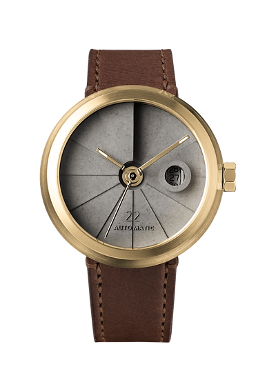 4D Concrete Watch Automatic - Minimal Brass Edition