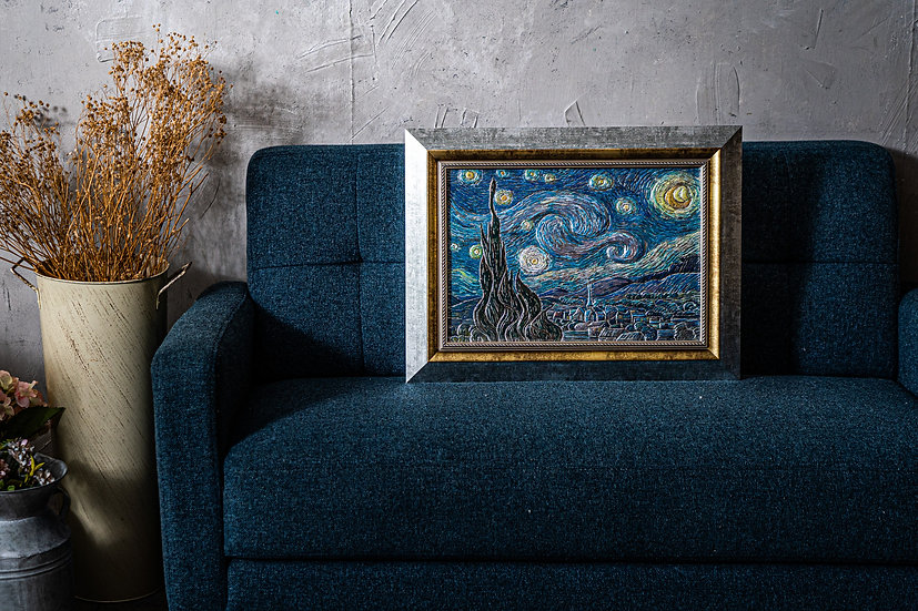 梵高 星夜 伏光浮雕拼圖 (300片)