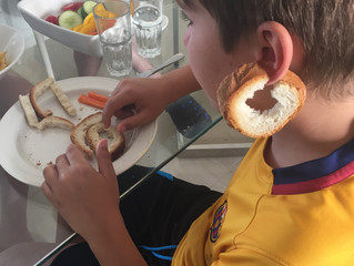 Harvey's bread art continues (at least it's just on holidays)!