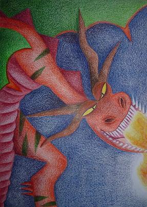 De draak blaast zijn oorsrponkelijke emoties buiten proportie op. Hij geeft een enorme lading in zijn uitingen om gezien en gehoord te worden in zijn ervaringen en gevoelsbeleving.
