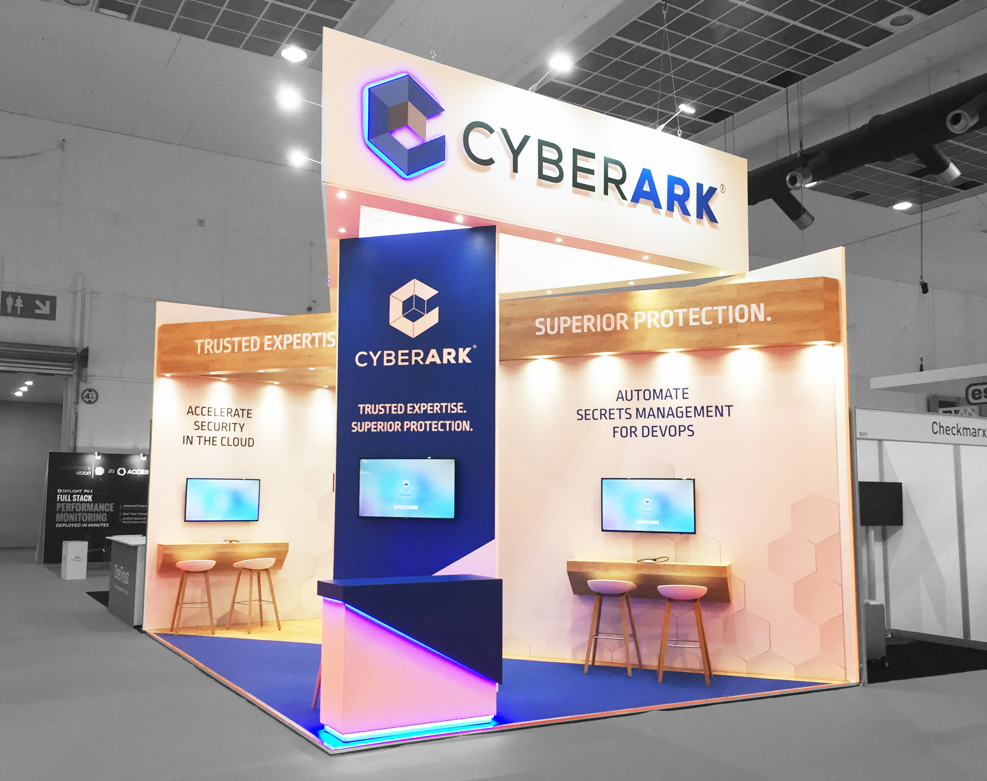 Cyberark trade show stand design