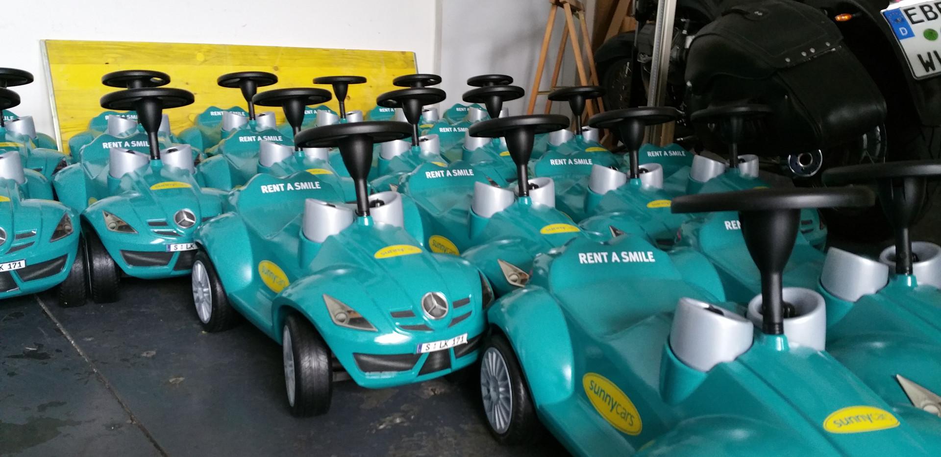 Flottenlösung Sunny Cars, Folienplotts