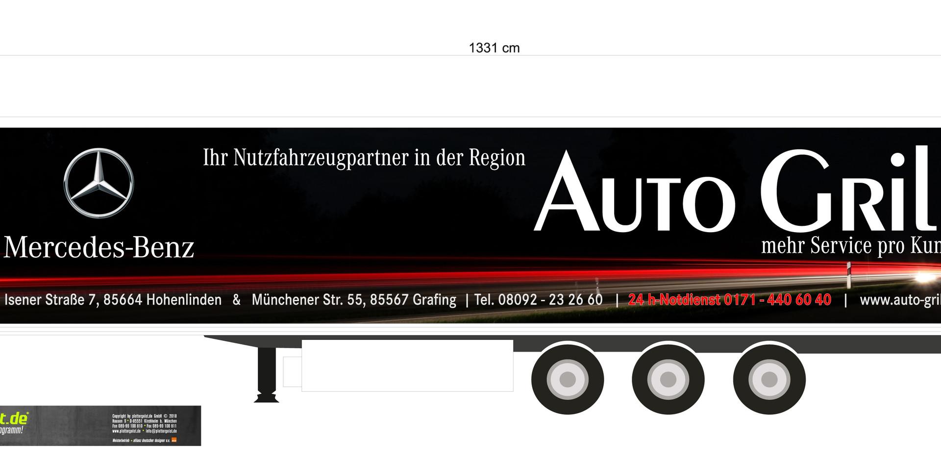 Gestaltung und Ausführung Aufliger Mercedes