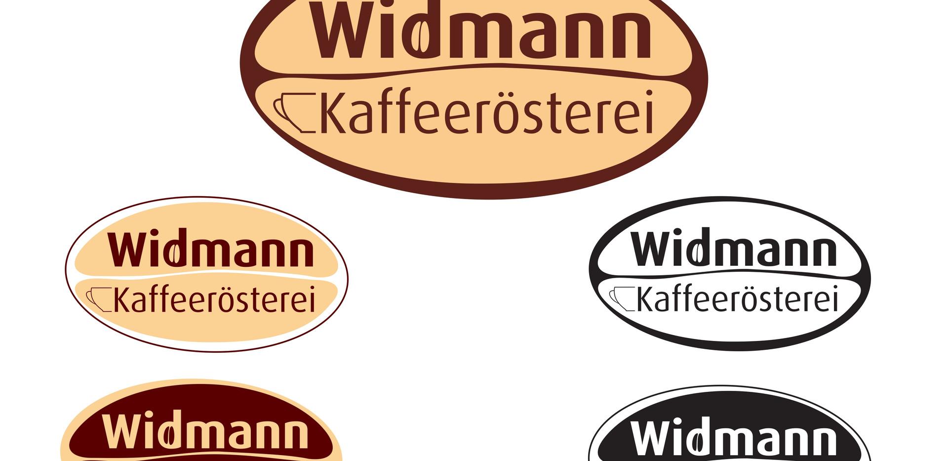 Logo Kaffeerösterei in unterschiedlichen Farbstellungen