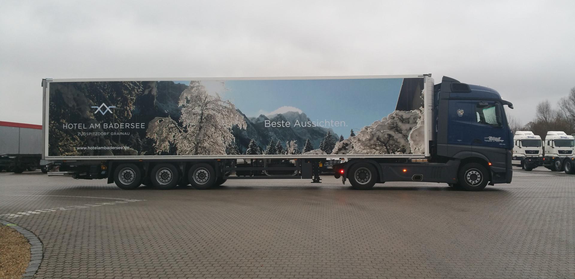 LKW-Auflieger Vollverklebung