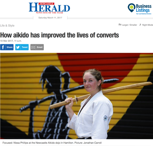 Newcastle Aikido in the Newcastle Herald