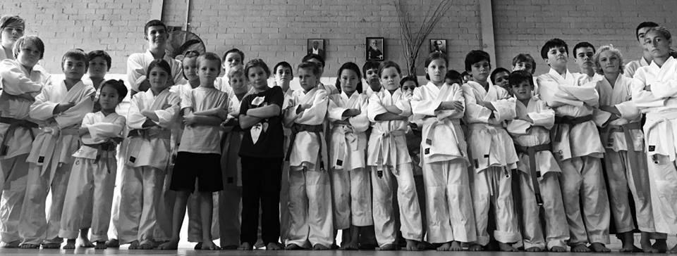 The kids of Newcastle Aikido and Lake Mac Aikido stand tall