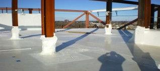 tijdelijk dak, dakdekking, krimpfolie wikkelit