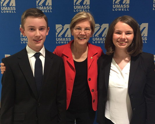 Leaders in Lowell with Senator Warren
