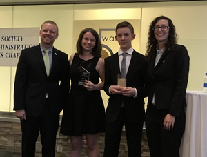 Daniel Russell & Bridget Provost at the MA ASPA's Award Ceremony