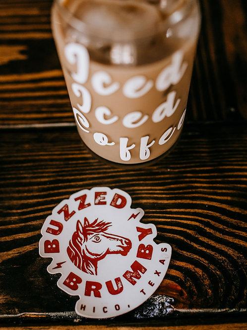 Buzzed Brumby Sticker