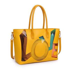 Love Women Tote Bag Yellow