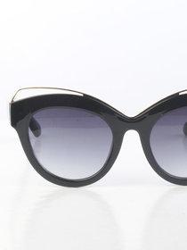 Black Retro Cateye Sunglasses