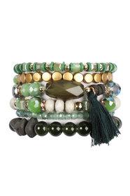 Boho Tassel Charm Bracelet