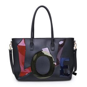 Love Women Tote Bag Black