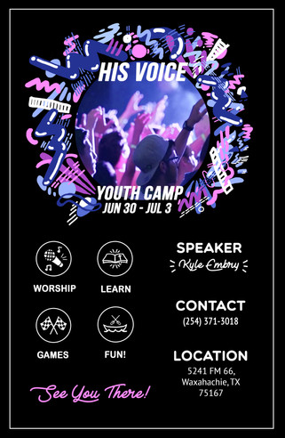 G3 Youth Camp Poster Design