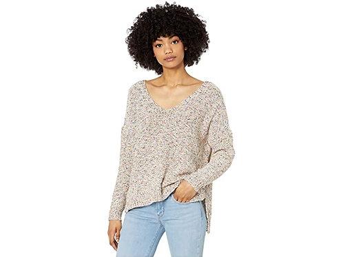 Multi Speckled V-Neck Sweater