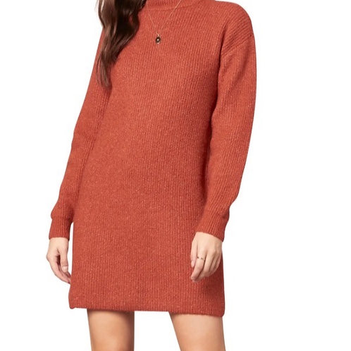 Twain Long Sleeve Sweater Minidress - Cupcakes and Cashmere
