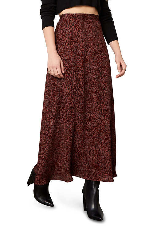 Marlena Leopard Print Midi Skirt - Cupcakes and Cashmere