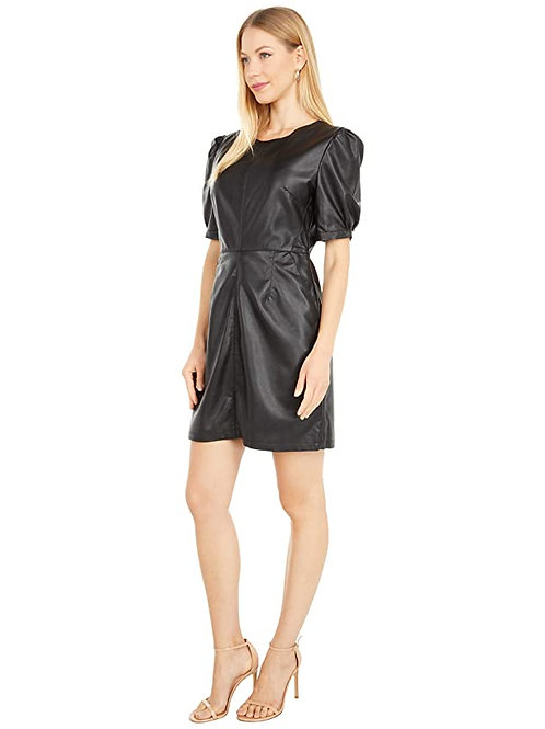 Maggie Faux Leather Dress - Cupcakes and Cashmere