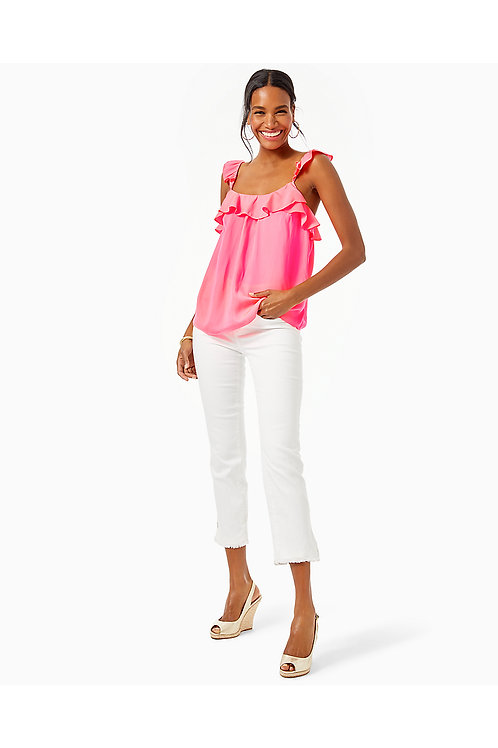 Cailee Ruffle Tank Top - Lilly Pulitzer