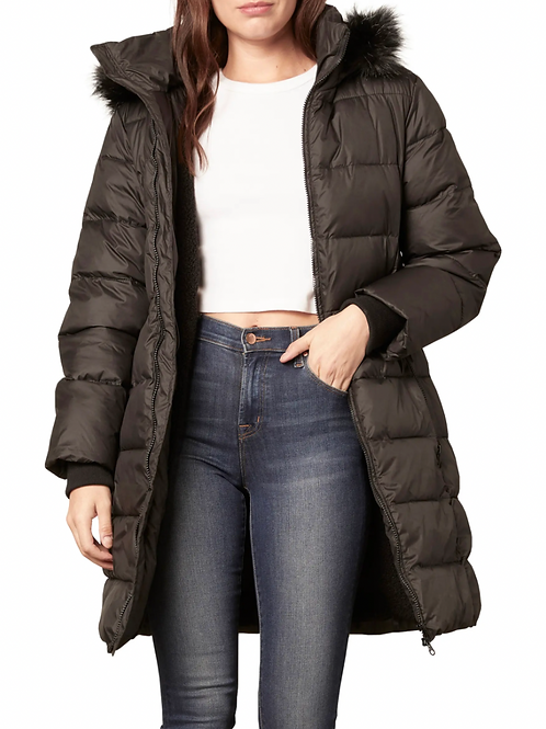 Kepler Faux Fur Hooded Puffer - Cupcakes and Cashmere