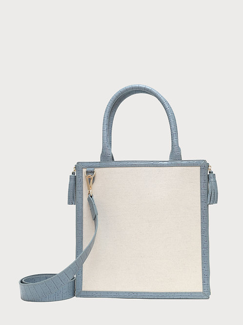 No. 61 The Monday Tote Croc Embossed Trim