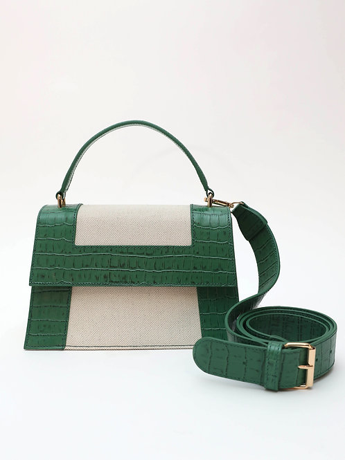 No. 65 The Graphic Frame Bag Croc Embossed