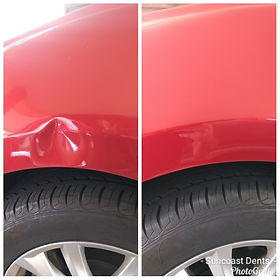 mazda bodyline dent repair, suncoast dents, sunshine coast