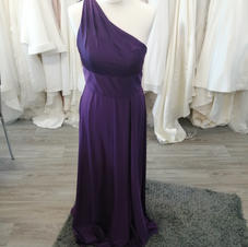 One shoulder purple