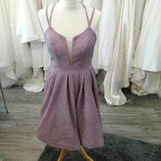 T length lilac glitter dress