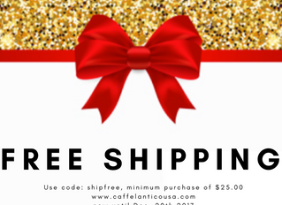 Free Shipping with orders over $25.00