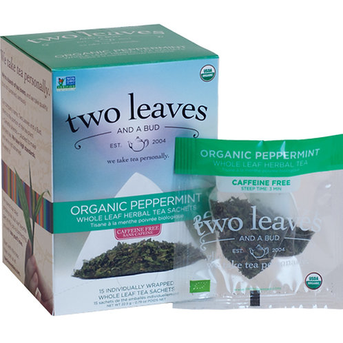 Organic Peppermint Case (6 boxes of 15 tea sachets)