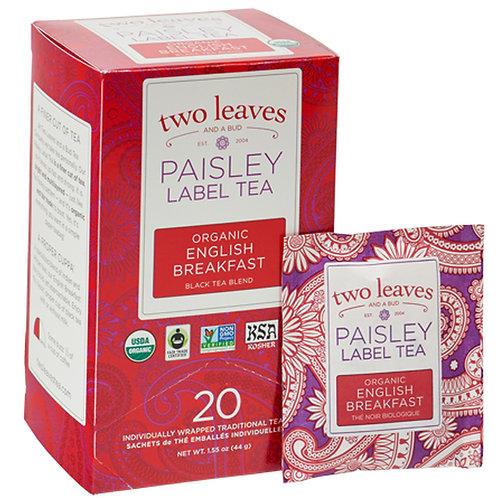 Paisley Label Tea Organic English Breakfast