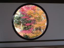 源光庵の悟りの窓