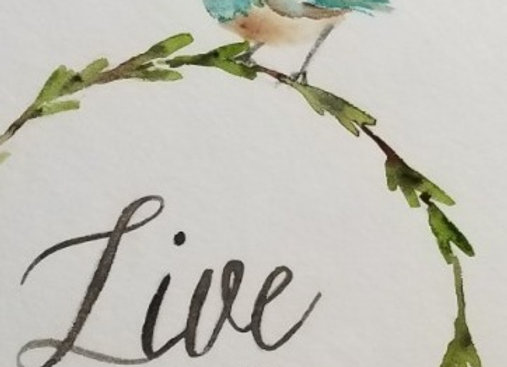 #WCS-2 - Live Simply Original Watercolour 5x7