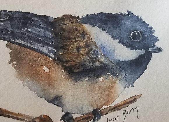 #WCS-12 - Chickadee Original Watercolour 5x7