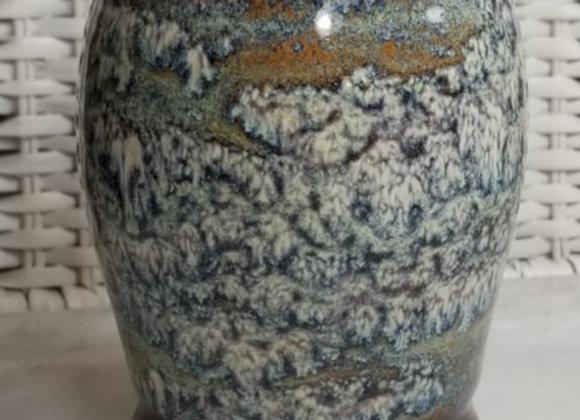 #P-38-Burgundy & Mottled Vase