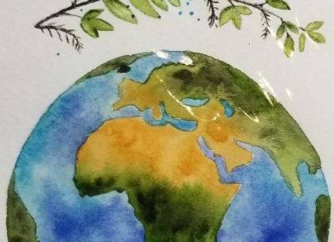 #WCS-7 - Africa Original Watercolour 5x7