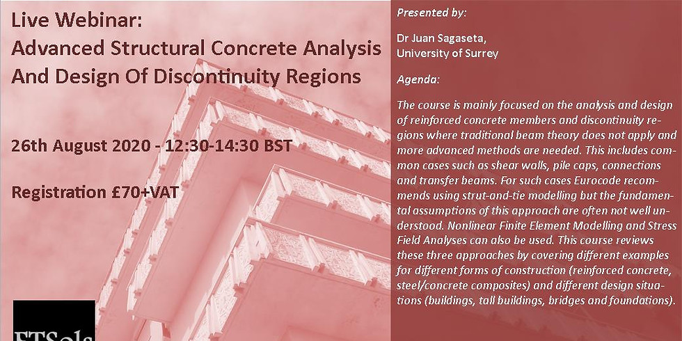 Advanced Structural Concrete Analysis And Design Of Discontinuity Regions