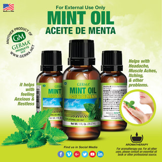 Germa® Mint Oil (Aceite de Menta) - 1oz