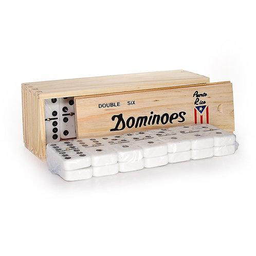 Double 6 Domino (Wood Box)