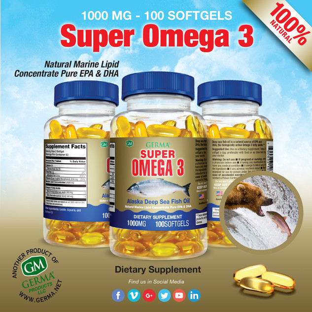 Germa® Super Omega 3 - 100 Softgels