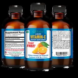 Vitamin C Glass Front & back