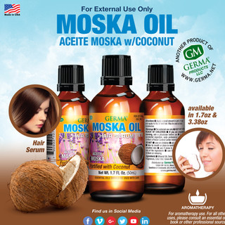 Moska Oil wCoconut - 1.7oz & 3.38oz
