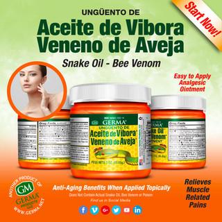 Germa® Snake Oil Bee Venom - 3oz