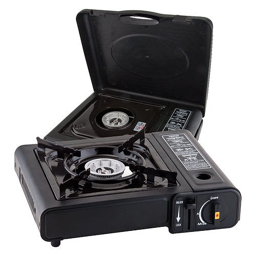 Portable Butane Gas Stove w/ Carrying Case